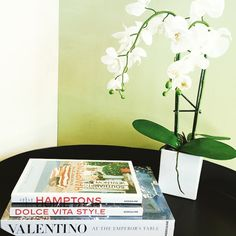 Looking for new home decor? These #coffeetablebooks are beautiful and compliment any room! #Valentino #DolceVita #Hamptons #CharlottesStyle #Charlottesdecor #Orchid