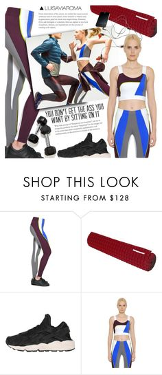 """""""Get Your -- In the Gym"""" by luisaviaroma ❤ liked on Polyvore featuring No Ka'Oi, NIKE, fitness, luisaviaroma and lvr"""