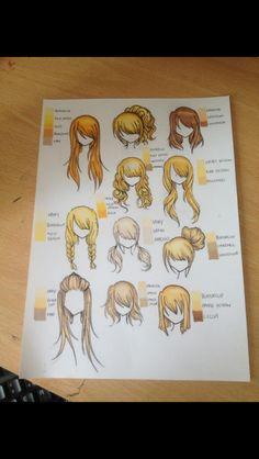 Promarker light hair colours