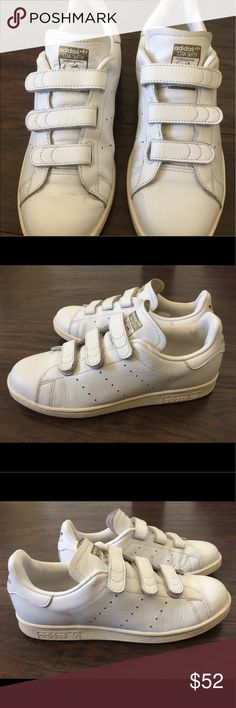 Stan Smith Adidas CF white/gold from Japan Adidas Stan Smith sneakers from Tokyo Japan. Men's US size 6.5 UK 6 adidas Shoes Sneakers