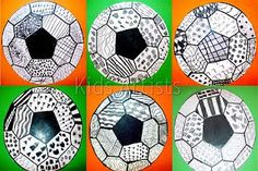 Soccer Doodles- the design lends itself to varied patterns...great for a sub plan