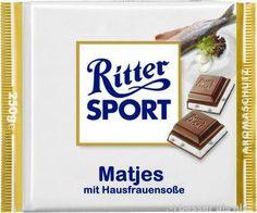 RITTER SPORT Fake Schokolade Matjes mit Hausfrauensoße