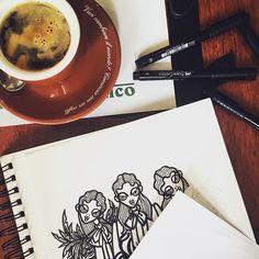 @ger_lar - Friday morning #friday #illustration #illustrazione #fashionartist #fashionillustration #coffee #morning #igdaily #instadaily #lima #today #drawing #ny #nyfw #fall2016 #FW16 #love