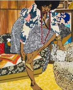 Mickalene Thomas - Bedroom Drawing Series - Social Justice connections - divorce- Families with more than one house - sharing spaces Famous Black Artists, African American Artist, African Artists, Museum Of Childhood, Popular Art, Thing 1, Jasper Johns, Claes Oldenburg, Figure Painting