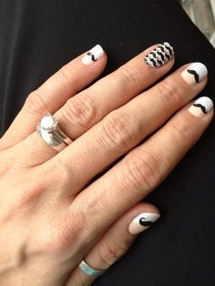 Moustache nails and french tips! How great are these? You know you want them! funfingernails.jamberrynails.net