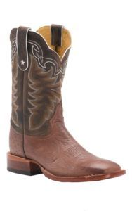 Tony Lama Men's Barnwood Brown Smooth Ostrich Exotic Square Toe Western Boots | Cavender's