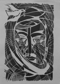 The Peacemaker (2015) Woodcut by Arie Coetzee | Artfinder