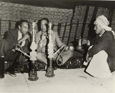 Duke Ellington & Paul Gonsalves with hookah and drinking tea in Ctesiphon, Iraq Contained in: Duke Ellington Collection Photographs (Series ca. Duke Ellington Collection, Archives Center, National Museum of American History. Baghdad Iraq, Duke Ellington, By Any Means Necessary, Jazz Musicians, Belly Dancers, National Museum, Civil Rights, Black History, American History