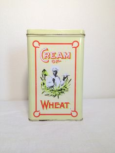 Vintage Cream of Wheat Tin Nabisco 1980's by TheLittleThingsVin, $15.00
