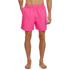 Faded Glory Men's Big Solid Swim trunks, Pink