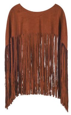 Faux Suede Poncho in