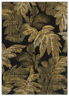 "Area Rug in the Tommy Bahama Home Collection in style ""Archival Fern"" color Black - By Shaw Floors"