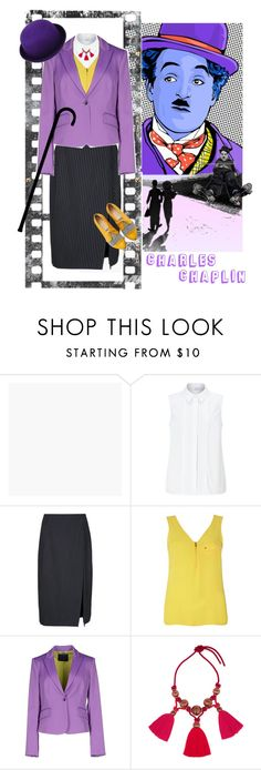 """""""Charles Chaplin Inspired"""" by kbarkstyle ❤ liked on Polyvore featuring Graham & Brown, John Lewis, Altuzarra, Dorothy Perkins, Richmond X and Lanvin"""