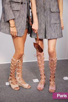 Tendenze scarpe primavera estate 2015 sandali alla schiava