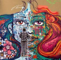 Marcelo Ment at work, Miami | Street Art | Street Artists | Art | Urban Art | Modern Art | Urban Artists | Mural | Graffiti | travel | Schomp MINI