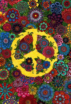 Flowers for Peace in color by doodler.♥, via Flickr
