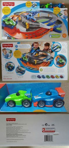 Shake N Go 168219: Fisher Price Shake N Go Spinout Alley Speedway  Multi Level