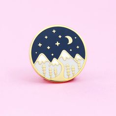 Mountain Pin by thecleverclove on Etsy
