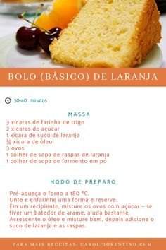 Sweet Recipes, Cake Recipes, Dessert Recipes, Healthy Recipes, Desserts, Food Cakes, Portuguese Recipes, Cooking Time, Sweet Tooth