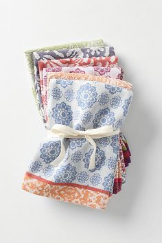 I need to finally sew more napkins and begin using them on a regular basis.