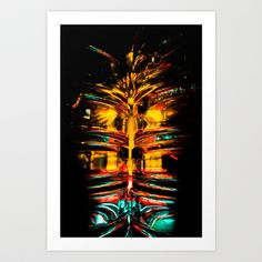 Strange Light Face Art Print Promoters - $12.48