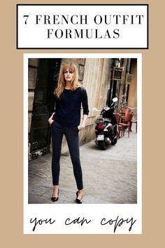 French Chic Fashion, Parisian Chic Style, Timeless Fashion, French Chic Clothes, French Women Fashion, French Clothing Styles, French Classic Style, Dress Like A Parisian, Parisian Fashion