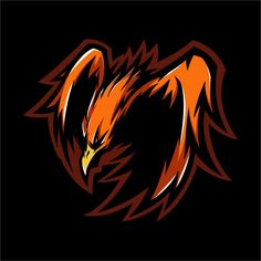 E sport logo fire phoenix ready to attac. Logo Esport, Logo Fire, Team Logo Design, Identity Design, Brand Identity, Mobile Logo, Comic Art Girls, Esports Logo, Creative Logo