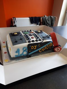 Dj cake made after searching the site for inspiration.