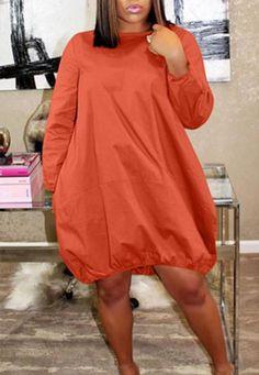 Euramerican Loose Army Green Knee Length Dress – NV Plus Size Smock Dress, Shirt Dress, Mode Plus, Perfect Prom Dress, Moda Plus Size, Mode Style, Look Fashion, Fashion 2020, Fashion Brands