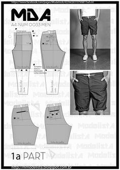 ModelistA: A4 - NUM 0033 MEN SHORTS Part 1