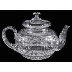 Hawkes Brilliant Period Cut Glass Teapot
