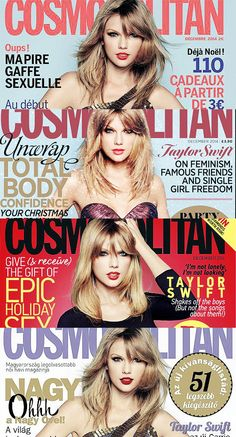 Taylor Swift on the cover of Cosmopolitan's December issue