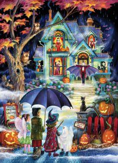 Fright Night Jigsaw Puzzle , : Vermont Christmas Company