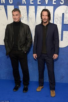 Keanu Reeves and Chad Stahelski - John Wick Chapter 2 in London's Leicester Square