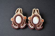 Beautiful earrings made by soutache embroidery / by AccessoriesAM, $40.01