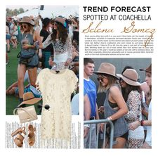 """""""Spotted at COACHELLA : Selena Gomez"""" by vanessanataly ❤ liked on Polyvore featuring Topshop, Brixton, CÉLINE and Michael Kors"""