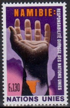 United Nations - Postage Stamp, Namibia: Direct Responsibility of the United Nations.
