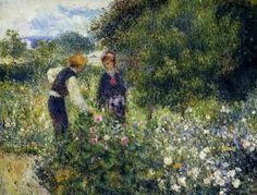 Among the Roses Renoir | Awesome Art | Pinterest | Dipinti, Foto ...