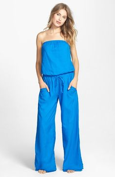 Free shipping and returns on Hard Tail Strapless Shelf Bra Jumpsuit at Nordstrom.com. Show off sun-kissed shoulders in a strapless cotton jumpsuit, its softly bloused bodice and wide legs nipped in by a drawstring waist.