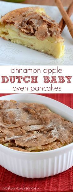 Cinnamon Apple Dutch Baby Oven Pancakes are a favorite breakfast at our house. They are delicious!