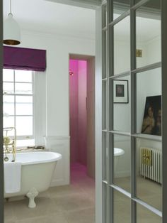 Unique Ways to Add Color to a Renovated Bathroom | Apartment Therapy - coloured LED lighting