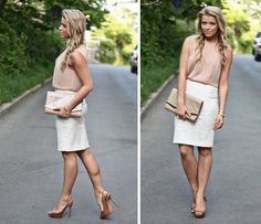 It's all about nude & white (by Linda Juhola) http://lookbook.nu/look/3661511-It-s-all-about-nude-white