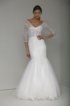 Monique Lhuillier Sheath Wedding Dress