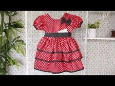 Como Fazer Vestido da Minnie - YouTube