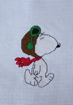 Snoopy cross stitch