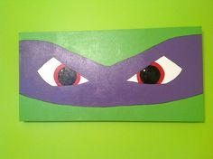 Teenage Mutant Ninja Turtle Donatello - Acrylic on wrapped canvas for daughter's bedroom