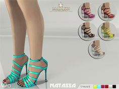 Madlen Natassa ShoesA must-have new gladiator sandals! Come in...      Madlen Natassa Shoes  A must-have new gladiator sandals! Come in 6 beautiful shiny colours (patent leather texture). Joints are perfectly assigned. All LODs are replaced with new ones.  You cannot change the mesh, but feel free to recolor it as long as you add original link in the description.  If you can't see this creation in CAS, please update your game. If you're experiencing thumbnail problem, update your..