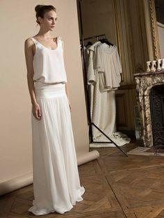 La simplicité des robes de mariée de Delphine Manivet fait mouche !