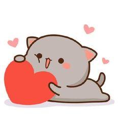 Lindura te Chibi Kawaii, Chibi Cat, Kawaii Cat, Cute Chibi, Cute Love Pictures, Cute Love Gif, Cute Images, Cute Anime Cat, Cute Cat Gif