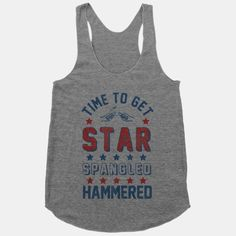 Star Spangled Hammered tank $20